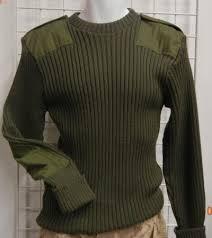 Britský armádní svetr pulovr vlněný d2694a935c