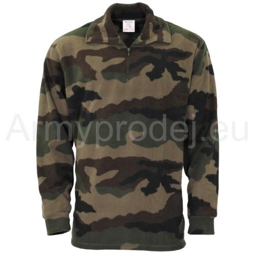 dffbaebb51d5 Vojenská fleece mikina maskáčová
